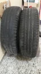 2 pneus de 60% a 70% ainda de uso. Firestone 165/70R13 79T
