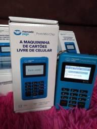 Maquininha Point Mini Chip Wi-Fi aceito cartão