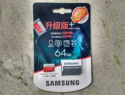 Cartão de Memória MicroSD Samsung 64GB Classe 10 Original (Lacrado)