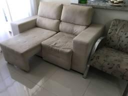 Sofá retrátil e reclinável + poltrona