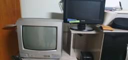 Televisões LG e CCE