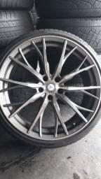 Jogo de roda e pneus praticamente zero aro 20 marca delinte