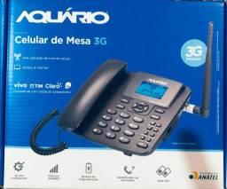 Telefone Celular Rural De Mesa Aquário Ca-42s 3g No cartão até 3 vezes sem juros