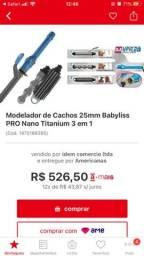 Modelador de cachos babyliss pro nano titanium 25mm 3 em 1 Bivolt