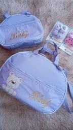 Kit bolsa maternidade lilás 2 peças