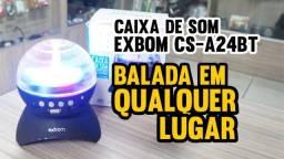 Caixa De Som Bluetooth Globo Com Led Rgb Exbom Cs-a24bt
