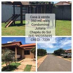 À venda: casa no Chapéu do Sol em Condomínio fechado - Juliana