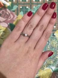 Título do anúncio: anel prata solitário