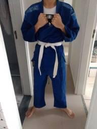 Kimono Shiroi Trançado A1 Judô Jiu-jitsu karatê