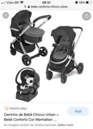 Título do anúncio: Bebê conforto e carrinho de passeio urban