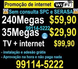 Internet com tv wifi