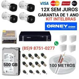 Título do anúncio: Câmeras... kit de 4 câmeras INTELBRAS em 12X SEM JUROS.