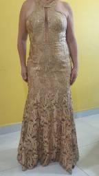 Título do anúncio: Vestido de Festa ELAÉ Dourado
