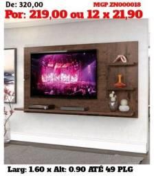 Painel de televisão até 49 Plg-Sala de Estar- Painel Barato-Painel-Liquida MS