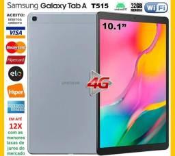 """Galaxy Tab A 32GB Octa Core, Wi-Fi, 4G, GPS, Tela 10.1"""" Novíss, Cx, Gar, NF, Troco"""