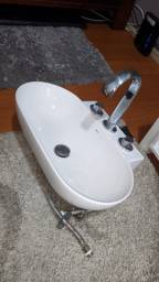 Pia banheiro + pedra granito