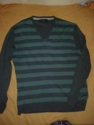 Camisa manga longa tricô masculina