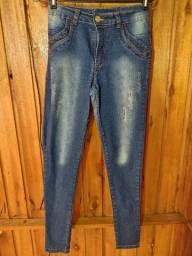 637 - Calça jeans stretch - Tam 36