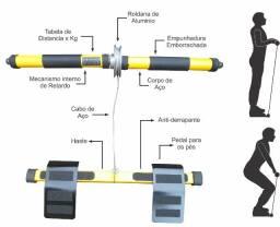 Magicbarra - simulador de remo portátil multifuncional 6 x 1 - Novo