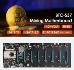 Título do anúncio: Kit Mineraçao Placa + 4gb memória + CPU Intel onboard  para 8 GPU's