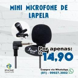 Microfone Lapela para smartphones / Notebooks / computadores