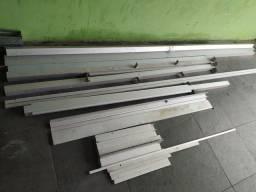 Tubo quadrado de alumínio, suporte vidro, de Alumínio