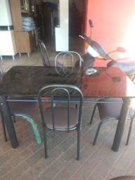 Mesa de jantar 1.20 mts 4 cadeiras nova, promoção