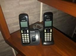 Telefone sem fio Panasonic 2 bases, Com Identificador de chamadas KX-TGC210LA