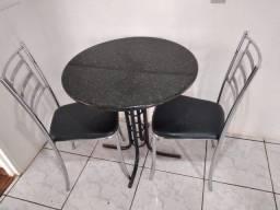 Mesa de granito 3 cadeiras