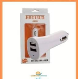 Carregador Veicular Duplo USB para Celular Tablet GPS