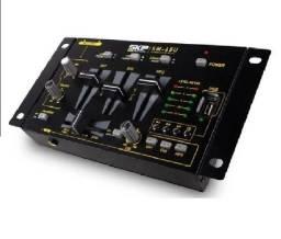 Mixer para dj 3 canais ultracompacto, com recurso MP3 player integrado
