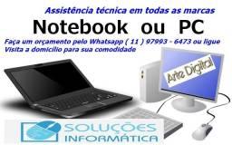 Assistênia Técnica a domicílio - Notebooks - PC - Desktop em Osasco