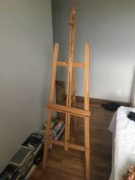 Cavalete de madeira para pintura