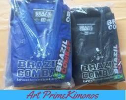 Kimono Novo Trançado da Brazil Combat por apenas *A1 ,A2 e A3* R$210,00 só Aqui!
