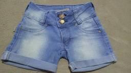 Bermuda jeans tam. 6 anos seminova