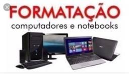 Formatação de Notebook e PC a domicílio