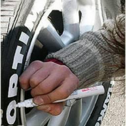 Caneta para pintar pneu Branca