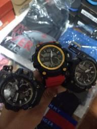 Kit chinelo Kenner + 1 Relógio Sanda ou sport + 1 camisa polo Tommy ou camiseta