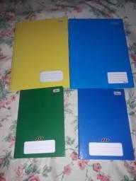 4 cadernos novos