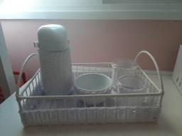 Kit higiene em vime