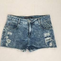 Short jeans destroyed Bluesteel tamanho 40
