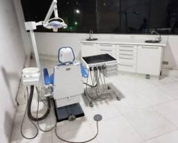 Cadeira Odontológica Dabi Atlanti Completa E Armário 2 Pias