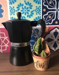 Cafeteira Italiana Preta Alumínio 9 Xícaras