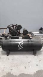 Compressor de Ar 20 pés motor novo 4cv - Precisa de reforma!