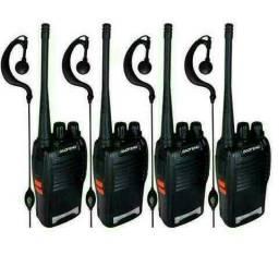 Kit 4 Rádio Comunicador Walk Talk Baofeng Bf-777s Com Fone<br>