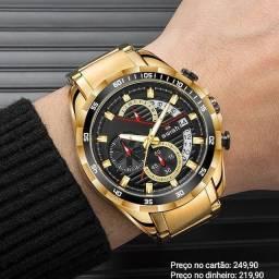 Relógio masculino importado original Swish cronógrafo diferenciado e exclusivo