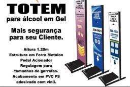 R$ 270 Totem Para Álcool em Gel (com arte) R$ 270