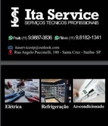 Instalação /Higienização ar condicionado / Refrigeração comercial e Eletricista