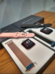 Relógio Smartwatch P80 com 02 Pulseiras