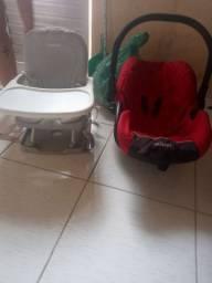 Bebê conforto e cadeira alimentação portátil